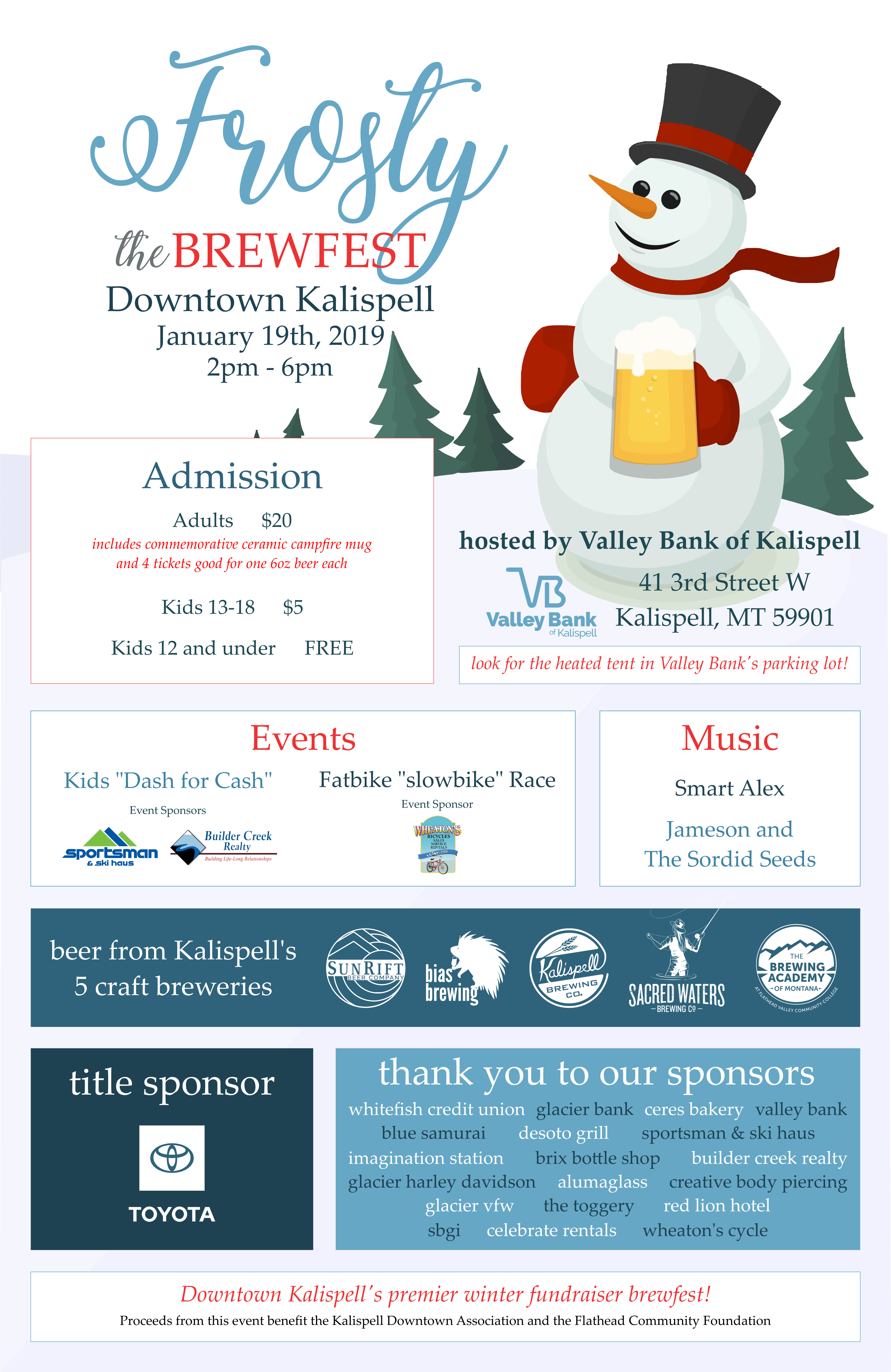 2019 1st Annual Frosty The Brewfest